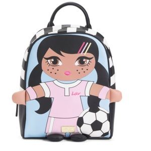 Betsey Johnson Luv Soccer Girl Backpack.